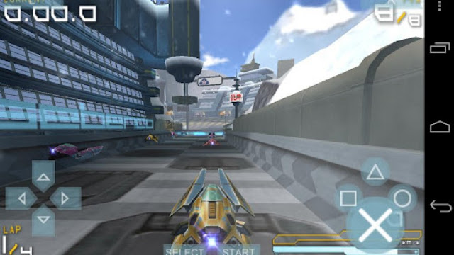 Tampilan aplikasi PPSSPP Gold - PSP emulator