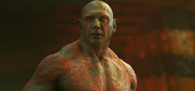 James Gunn elogia Dave Bautista pelo seu desempenho como Drax em Guardiões da Galáxia