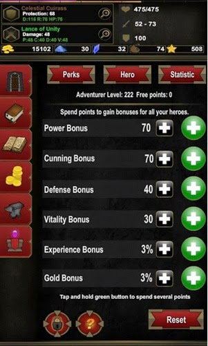 Spend Points Skill Dungeon Adventure Heroic Ed