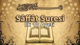 Saffat Suresinin İlk 10 Ayeti