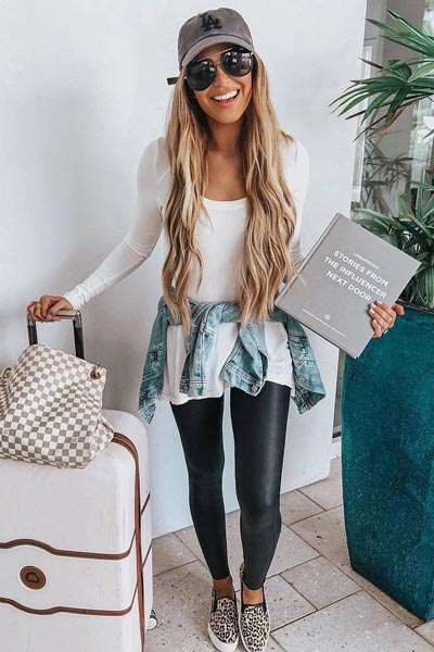 17 Fall Outfit Inspo That Will Make You Love This Season | Thermal Top+ Leather Leggings