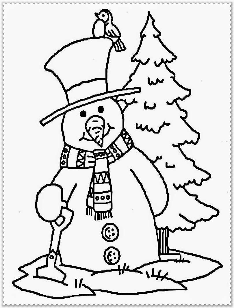 Winter Coloring Pages Realistic