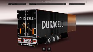 Duracell trailer skin for Refrigerated Trailer
