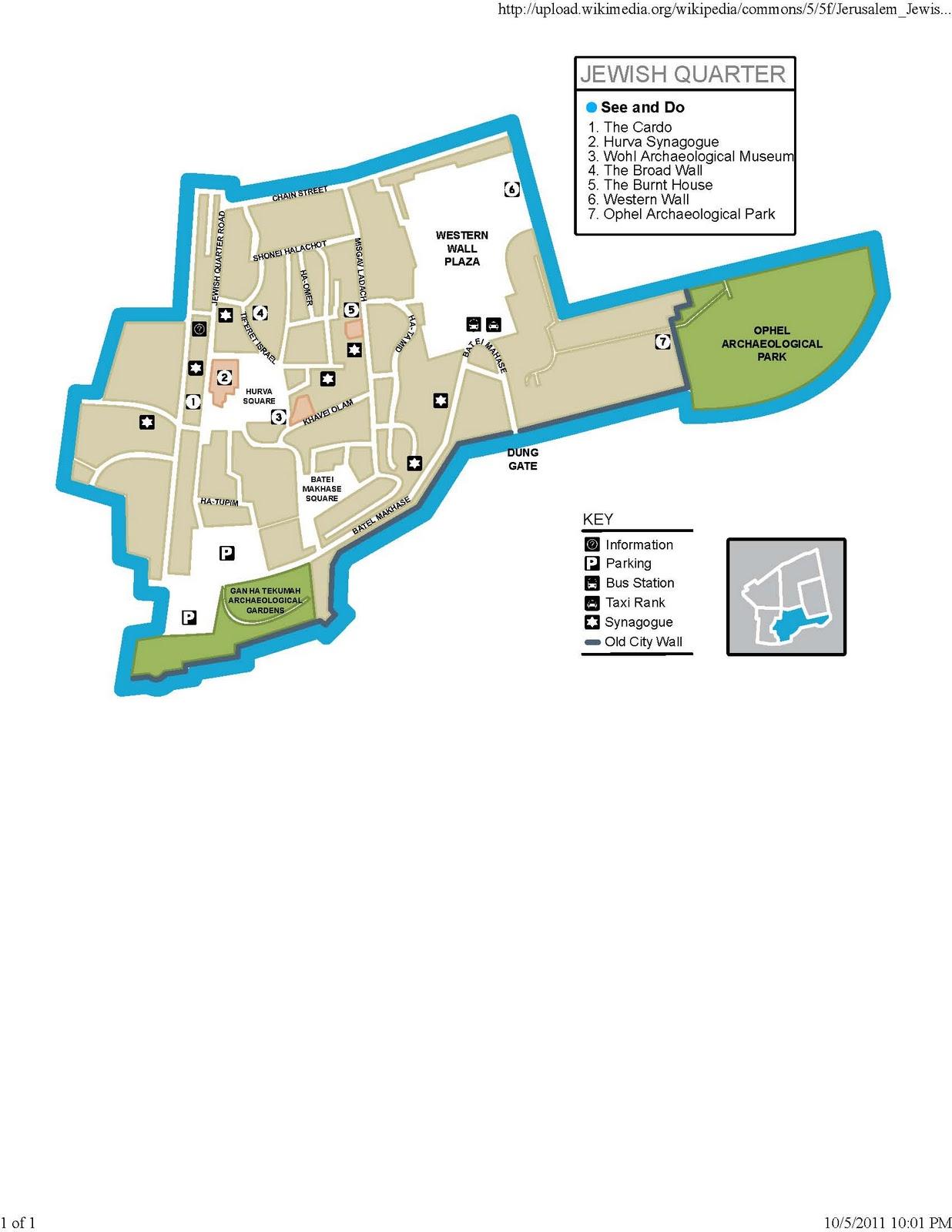 Map Jewish Quarter Jerusalem