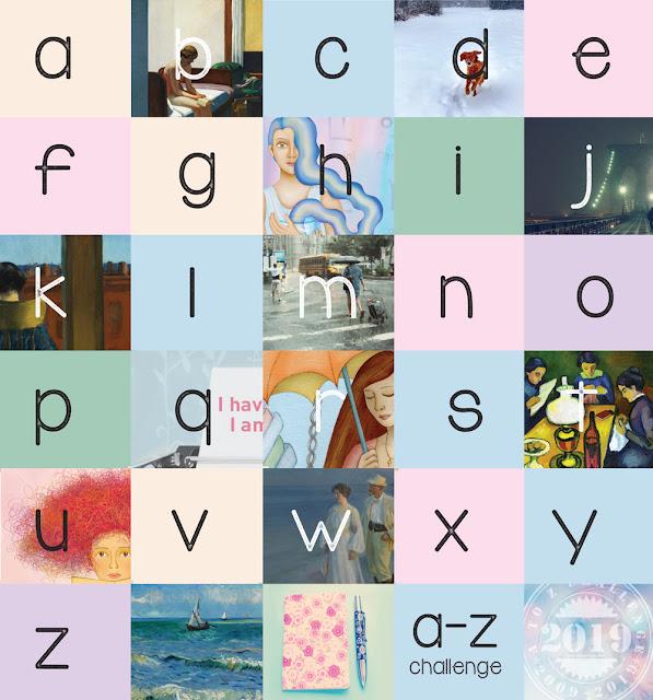 A-Z 2019 alpahbet collage
