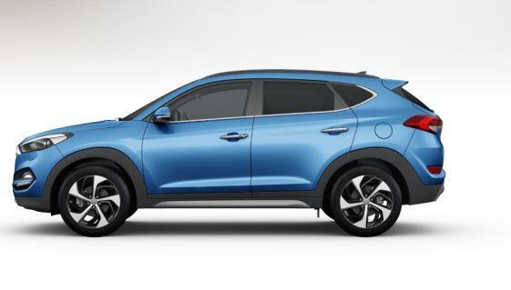 colori Nuova Hyundai Tucson 2016 Blu Chiaro - Ara Blue profilo laterale