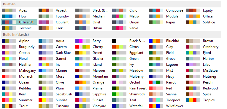 Best Color Combinations From Ms Publisher 2013