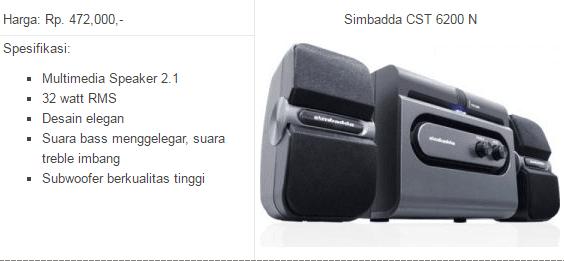 harga speaker simbadda murah