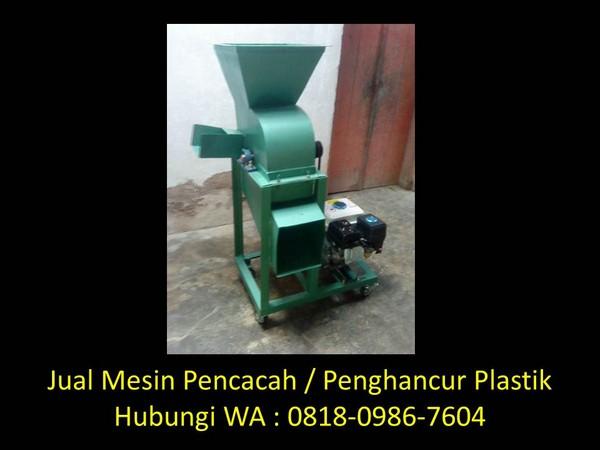 mesin pencacah plastik aqua di bandung