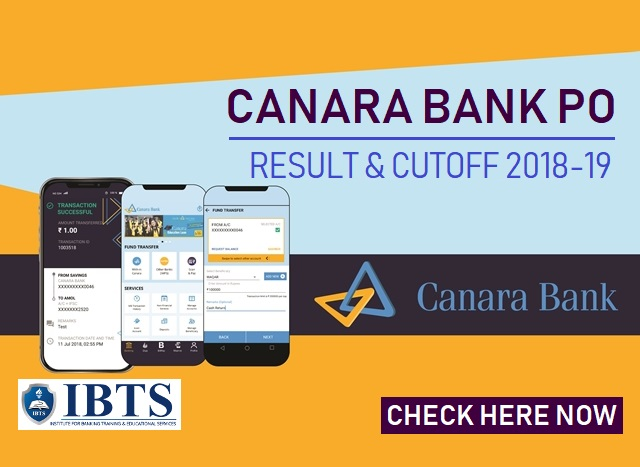 Canara Bank PO Result & Cutoff 2018-19 Out, Check Here Now!