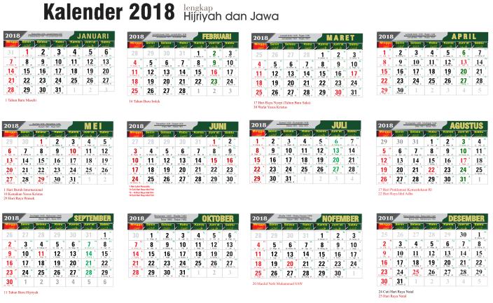 Kalender 2018 Yang Bisa Di Edit