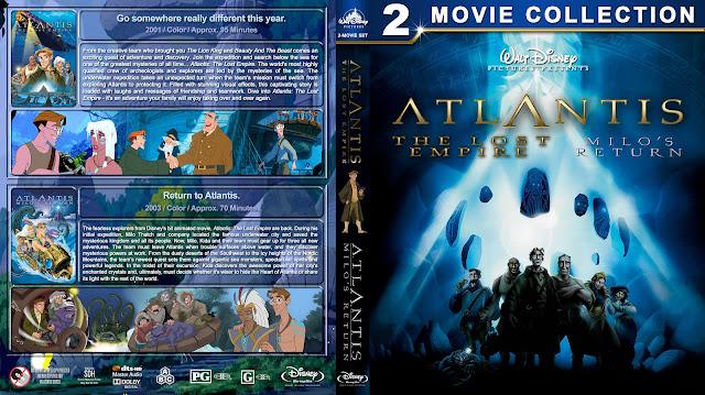 Atlantis: The Lost Empire / Milo's Return Double Feature Bluray Cover