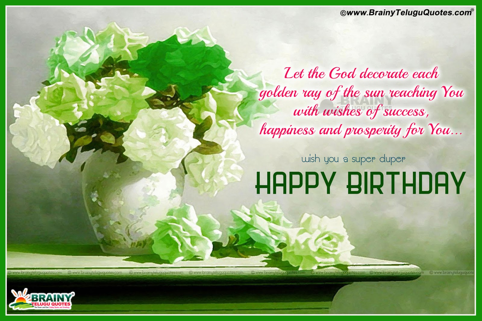 Christian Happy Birthday Friend Flowers Gardening Flower And