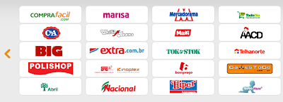 Logos de parceiros do Smile Shopping