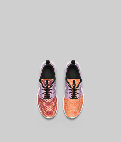 "Nike Flyknit Rosherun. Multi-Color. 677243-100. Roshe Flyknit: Reimagined  Design. ""The knit upper on Roshe Flyknits is truly one of a kind—no two  shoes are ..."