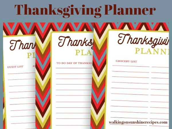 Thanksgiving Countdown and Printable Planner