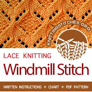 LEARN TO KNIT Windmill stitch. #learntoknit #knit