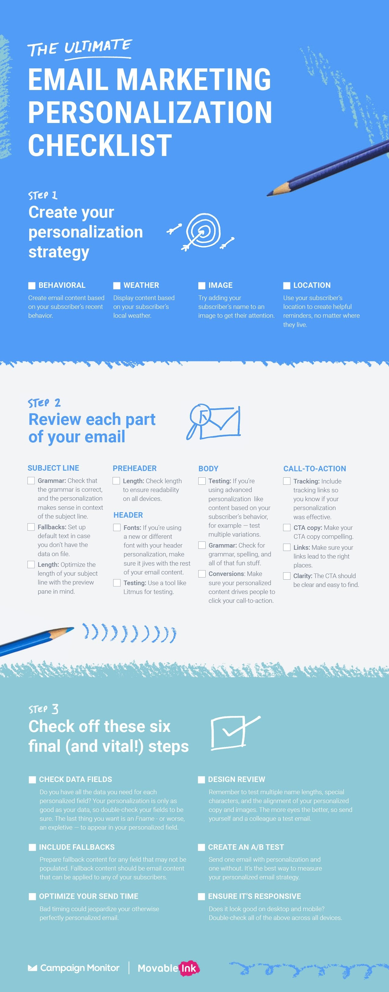 The Ultimate Email Marketing Personalization Checklist - #infographic