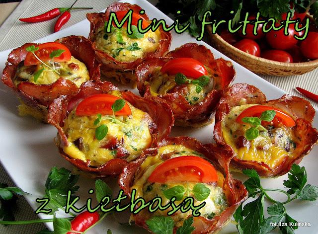 Mini frittaty z kiełbasą