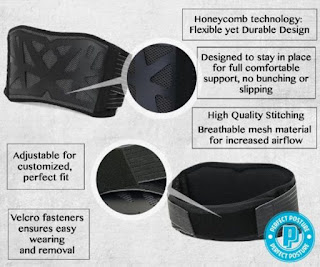 *NEW DESIGN* Lumbar Back Brace: #1 Recommended, Advanced Honeycomb Technology, Premium Material, Comfortable, Durable, Adjustable!! Lower back pain relief, Perfect Posture.