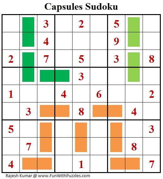 Capsules Sudoku Puzzle (Daily Sudoku League #201)