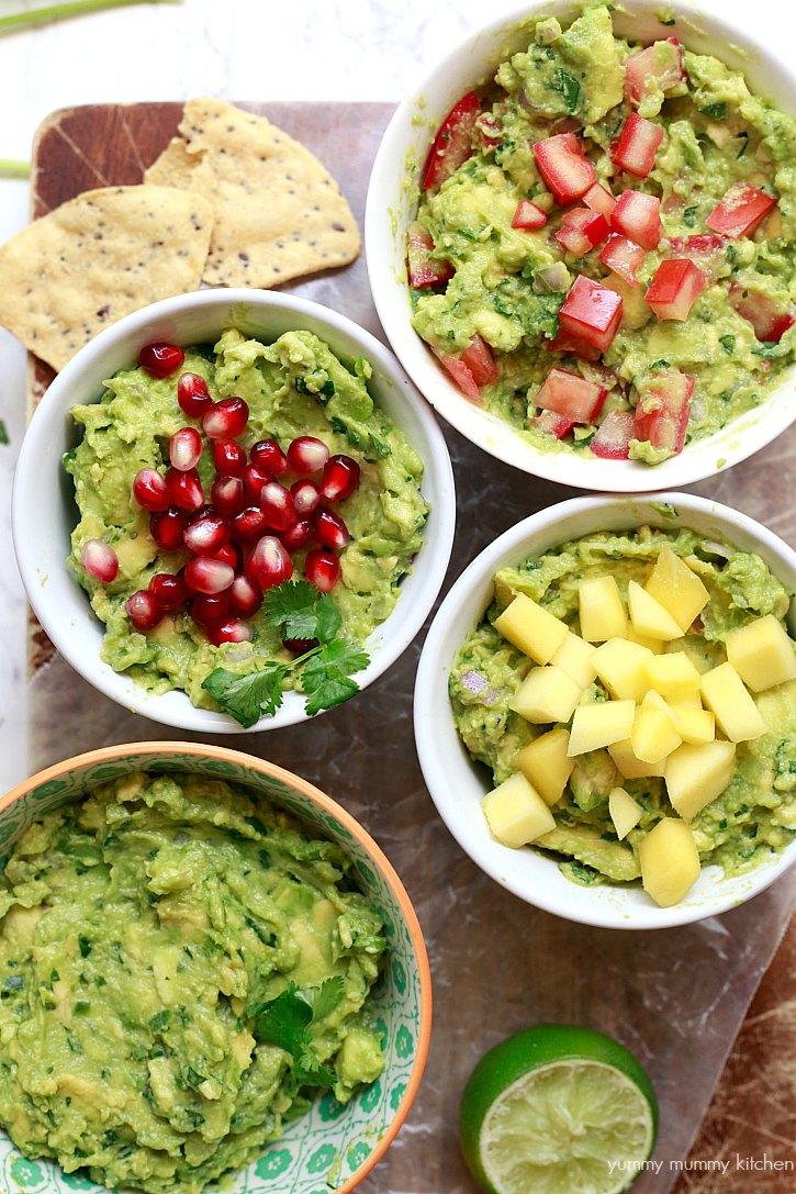 Beautiful guacamole platter