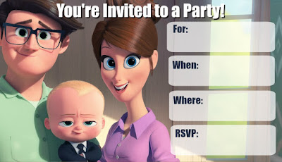 Boss Baby birthday printables