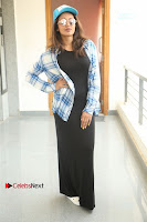 Actress Tejaswi Madivada Stills in Balck Long Dress at Babu Baga Busy Movie Interview  0005.jpg