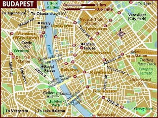 Map of Budapest Hungary