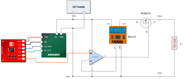 Arduino Controlled Adjustable Constant Current Source