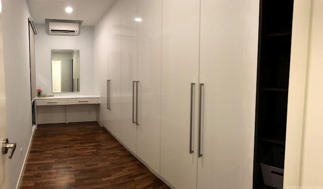 Bedroom wardrobe, Meridian Interior Design, Kuala Lumpur