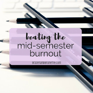 6 Tips for When You Feel the Mid-Semester Burnout. How to be productive even when you don't feel like it. How to beat the mid-semester burnout. What to do when you feel overwhelmed in law school. How to get back on track mid semester. How to study when you have no motivation. How to study when you don't feel like it. Ways to keep studying when you want to stop | brazenandbrunette.com