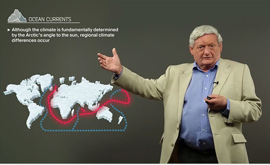 Professor Terry Callaghan explains ocean currents which warms Norwegian coast (Source: www.coursera.org)
