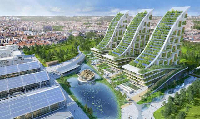Área industrializada belga se transforma en una impresionante comunidad futurista ecológica