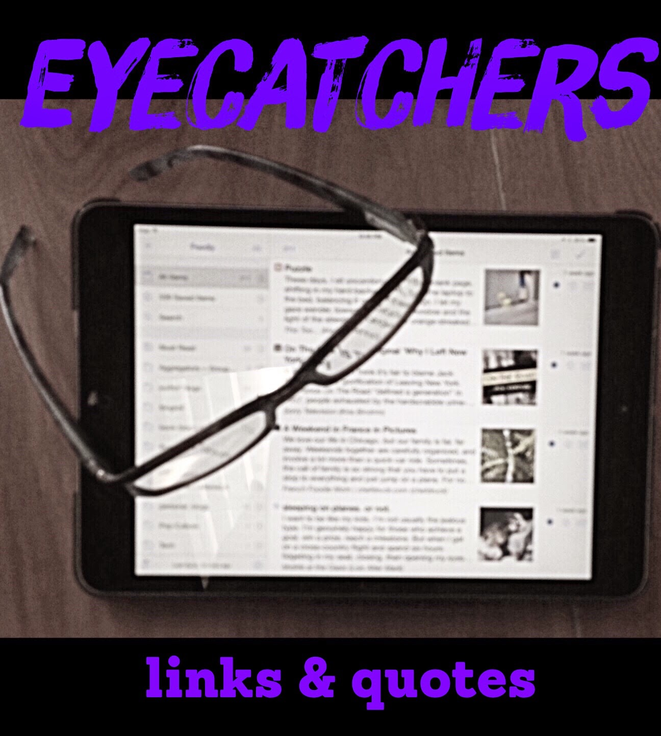 Sunday Salon, December 7: Eyecatchers Edition