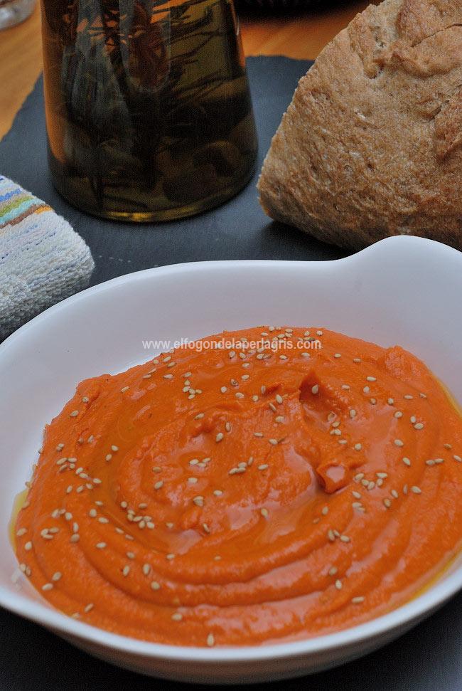 Hummus pimientos asados