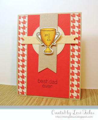 Best Dad Ever card-designed by Lori Tecler/Inking Aloud-stamps from Lawn Fawn