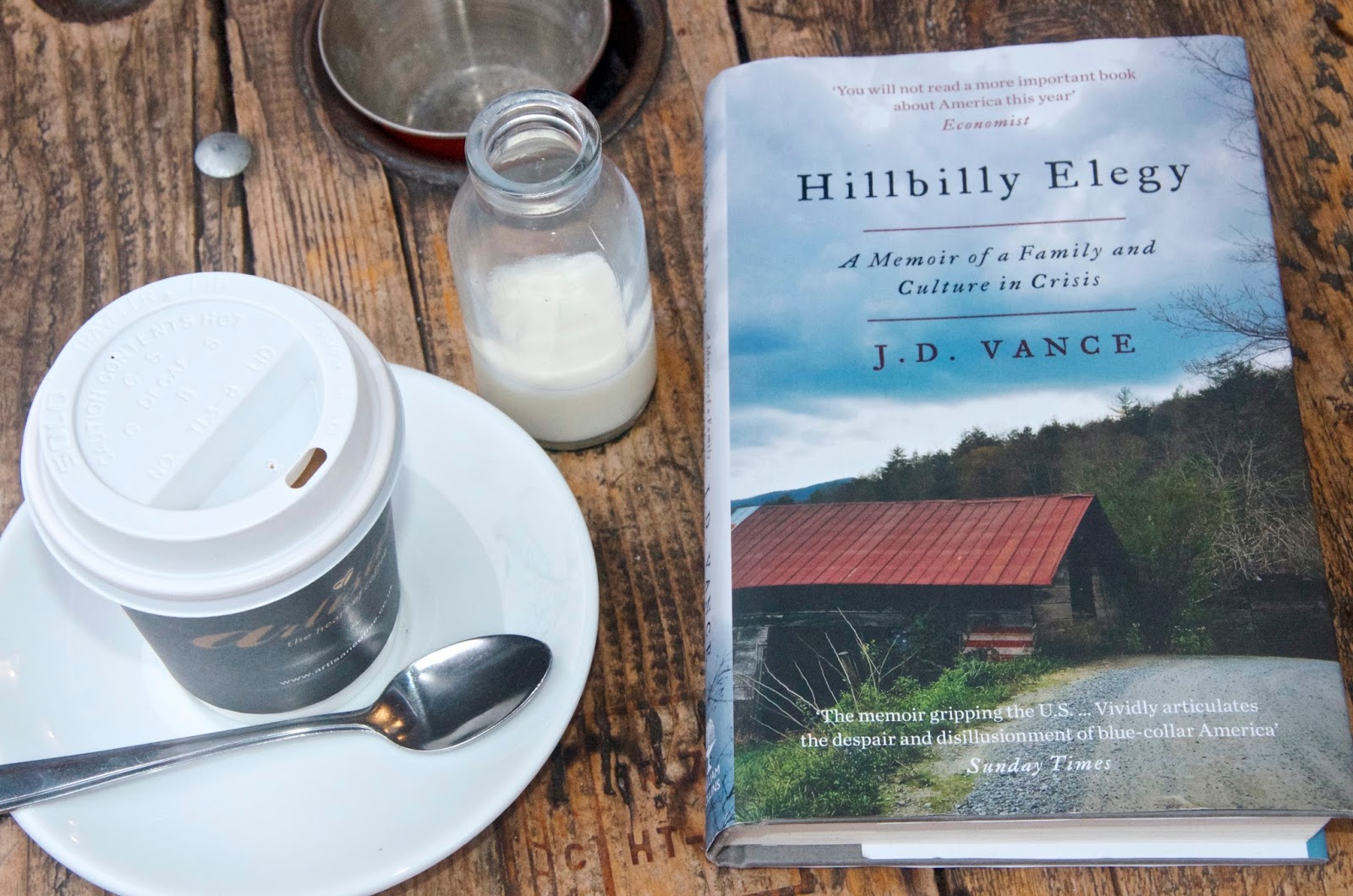 book, coffee and milk