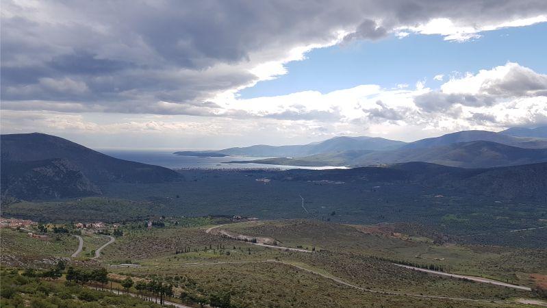 Blick auf Itea am Golf von Korinth