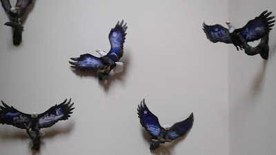 Eagles on wall