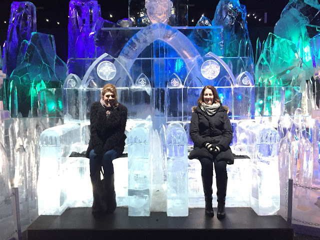 Steph and Steph on ice thrones