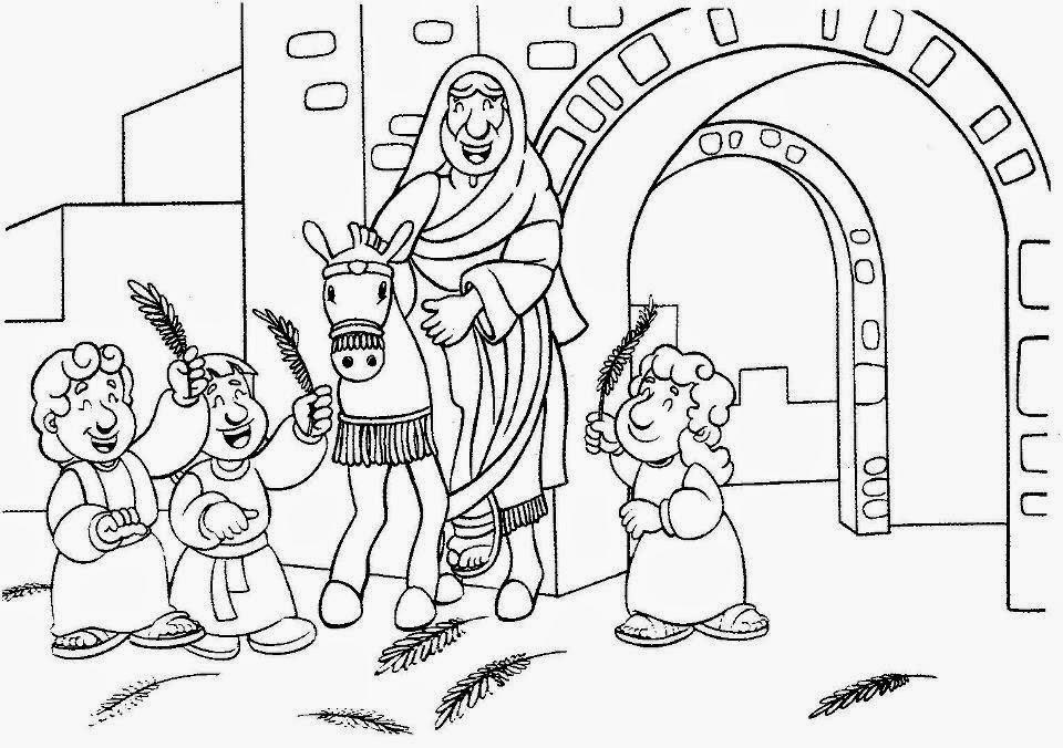 Dibujo De Domingo De Ramos Para Colorear