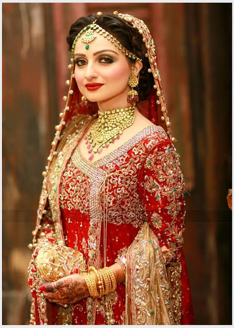 Traditional Red & Gold Bridal Dress