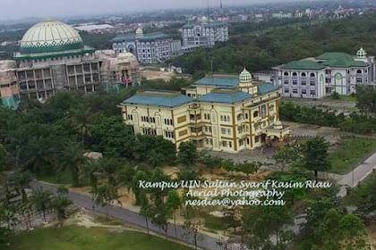 Kampus UIN Suska Pekanbaru Riau dari Udara