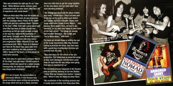 ARMORED SAINT - Delirious Nomad [Rock Candy remastered +2] booklet