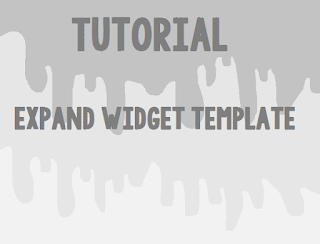 Tutorial : Expand Widget Template