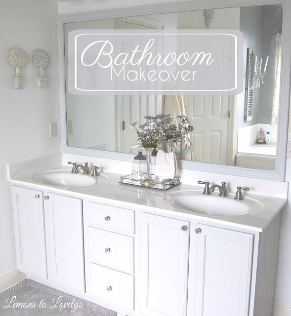 Master Bathroom Makeover- lemonstolovelys.blogspot.com
