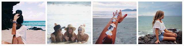 amigas na praia, conchas na praia, sentada sobre pedra