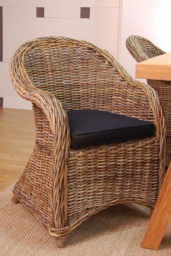 Sillon rattan natural