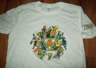 The Legend of Zelda 30th 25th anniversary t-shirt white Link